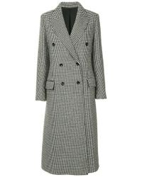 Lanvin - Double Breasted Long Coat - Lyst