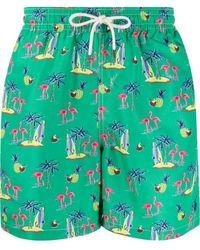 Polo Ralph Lauren Badeshorts mit Print - Grün