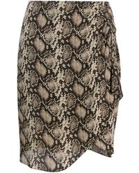 Nili Lotan Snakeskin-print Mini Skirt - Brown