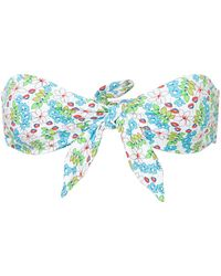 The Upside Floral Print Bikini Top - Wit