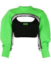 Gcds レイヤード トップ - グリーン