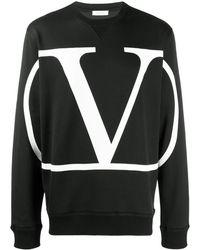 Valentino Толстовка С Логотипом - Черный