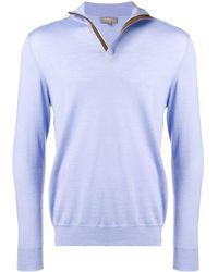 N.Peal Cashmere ジップセーター - ブルー