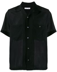 Cmmn Swdn Sheer Short Sleeve Shirt - Black