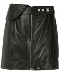 À La Garçonne Leather Mini Skirt - Black