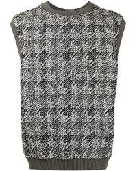 Coohem Karierter Tweed-Pullunder - Mehrfarbig