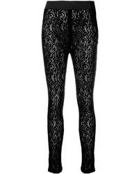 Dolce & Gabbana Легинсы Из Цветочного Кружева - Черный