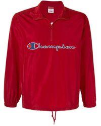 Supreme X Champion Half Zip Pullover Windbreaker - Red