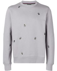 PS by Paul Smith - Palm Embroidered Sweatshirt - Lyst