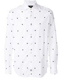 Hydrogen   Skull Printed Shirt   Lyst
