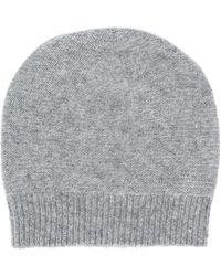 Fabiana Filippi Fine Knit Beanie Hat - Gray