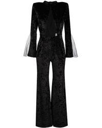 Loulou ベルベット ジャンプスーツ - ブラック