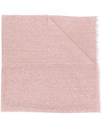 Brunello Cucinelli Длинный Шарф С Пайетками - Розовый