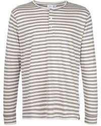 Onia Miles East Stripe Henley スウェットシャツ - ホワイト