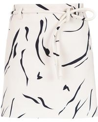 Egrey - Printed Flared Skirt - Lyst
