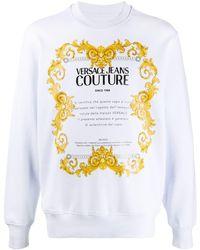 Versace Jeans Couture Logo-print Sweatshirt - Multicolor