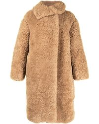 Hermès Пальто Teddy Pre-owned - Коричневый