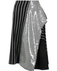 Antonio Marras パネル スカート - ブラック