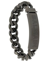 Balmain - Logo Chain Bracelet - Lyst