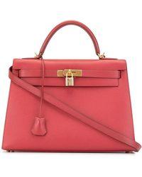 Hermès 2000 Kelly 32 Sellier Tote Bag - Red