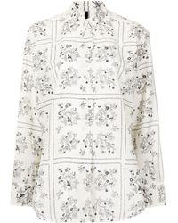 Sara Lanzi Floral Print Shirt - Multicolour