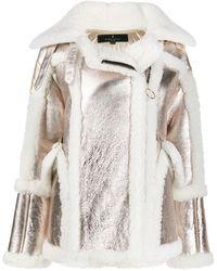 Nicole Benisti Metallic Shearling Coat