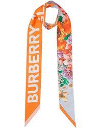 Burberry - フローラル スカーフ - Lyst
