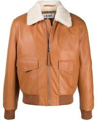 Loewe シアリングカラー ジャケット - マルチカラー