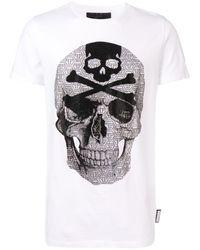 Philipp Plein ラインストーン Tシャツ - マルチカラー