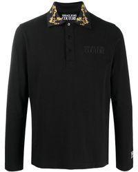 Versace Jeans Couture Рубашка Поло Со Вставками И Принтом Baroque - Черный