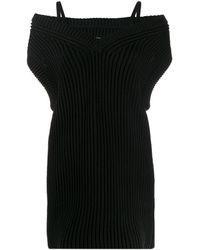 Maison Margiela リブニット ドレス - ブラック