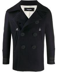DSquared² Двубортное Пальто - Черный