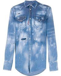 DSquared² - Faded Denim Shirt - Lyst