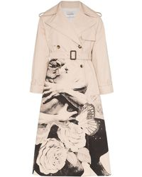 Valentino X Undercover Graphic Lovers Print Trench Coat - Natural