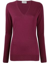 John Smedley Long-sleeve Fitted Sweater - Red