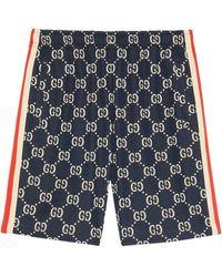 Gucci GG Jacquard Shorts - Blue