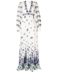 Andrew Gn Robe longue à ornements - Blanc