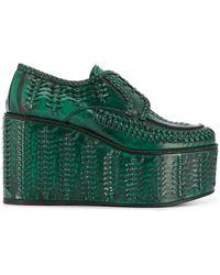 Prada Vetersneakers Met Plateauzool - Groen