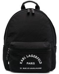 Karl Lagerfeld Rue St Guillaume バックパック - ブラック