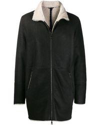 Giorgio Brato Lammy Coat - Zwart