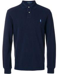 Polo Ralph Lauren ロング ポロシャツ - ブルー