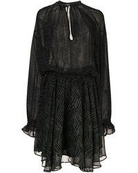 Anine Bing Платье Elliana С Длинным Рукавами - Зеленый