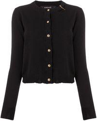 Versace Кардиган С Декоративной Булавкой - Черный