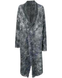 Avant Toi - Embroidered Cardi-coat - Lyst