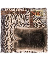 Pierre Louis Mascia Printed Fanory Scarf - Brown