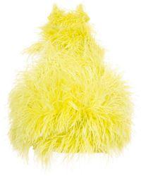 The Attico Топ Feathers С Высоким Воротником - Зеленый