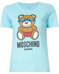 Moschino - Swim Goggles Teddy T-shirt - Lyst