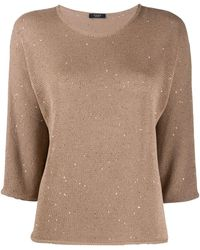 Peserico Sequin-embellished Sweater - Multicolor