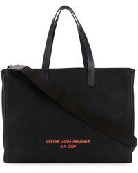 Golden Goose Deluxe Brand ロゴ ハンドバッグ - ブラック