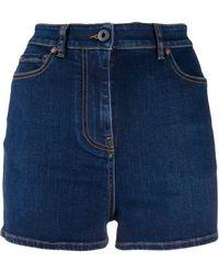 Valentino Pantalones vaqueros cortos de talle alto - Azul
